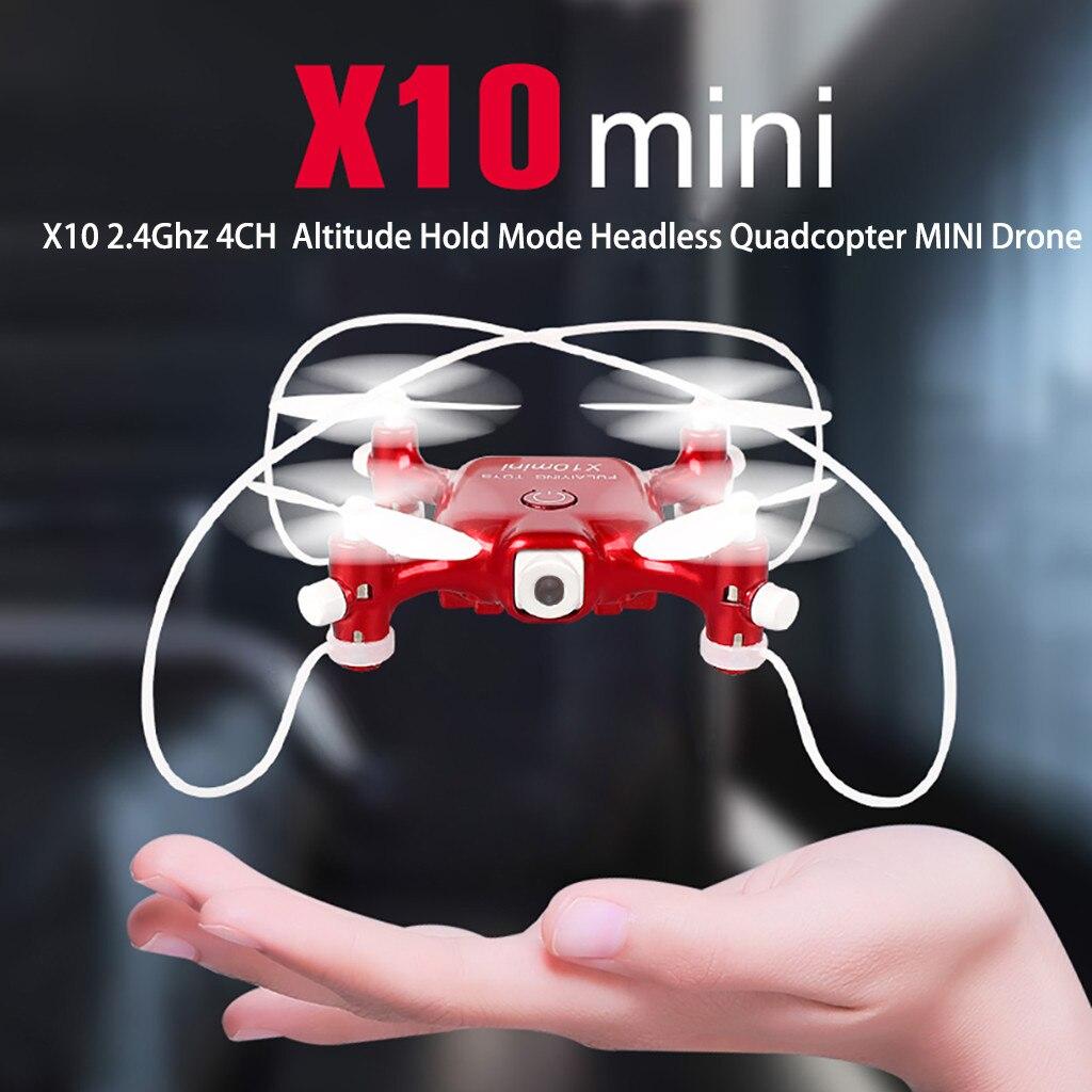 RC aviones X10 2,4 Ghz 4CH Modo de retención de altitud sin cabeza cuadricóptero MINI Drone W805