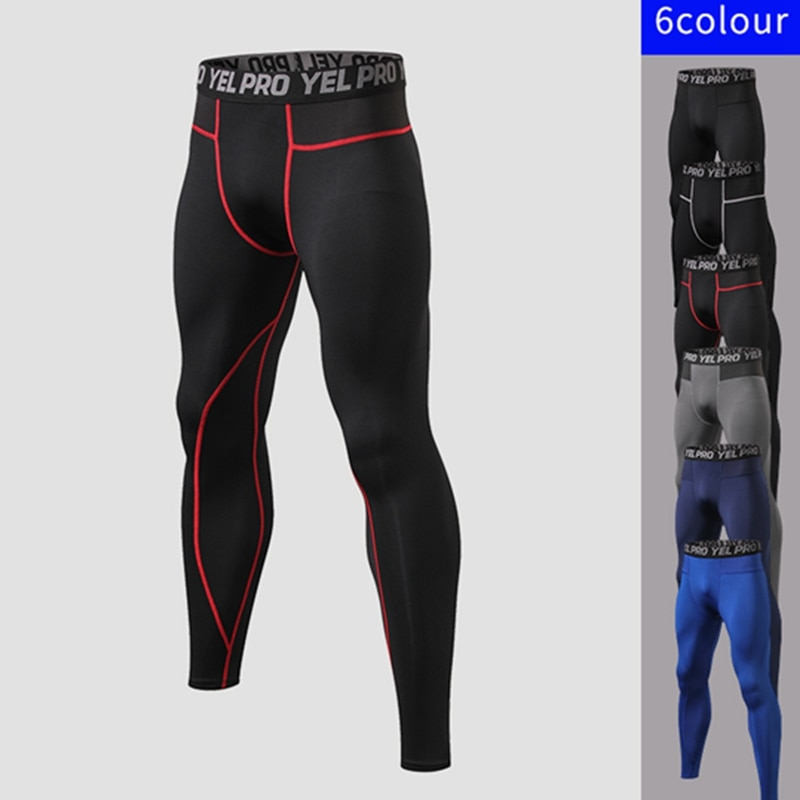 Mens Gym Compression Leggings Sport YogaTraining Pants Men Running Tights Trousers Sportswear Dry-quickly Fit Jogging