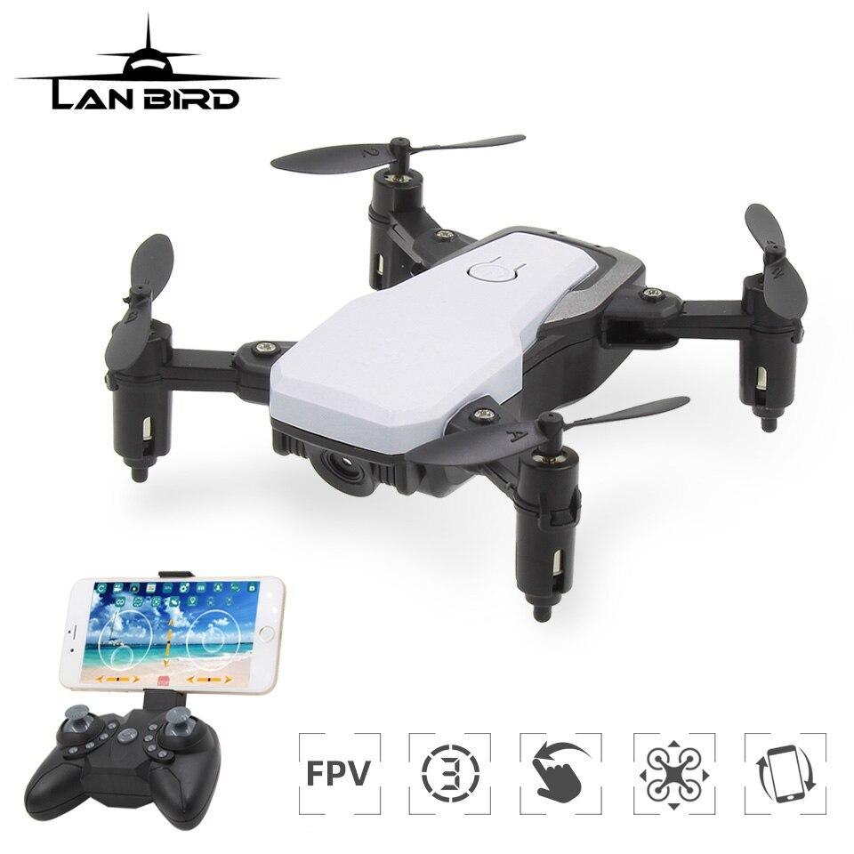 Lanbird Mini RC Drone with Camera FPV Wifi Remote Control Quadcopter Mini Toy kids Drones for Beginner Helicopter vs E61 S9W