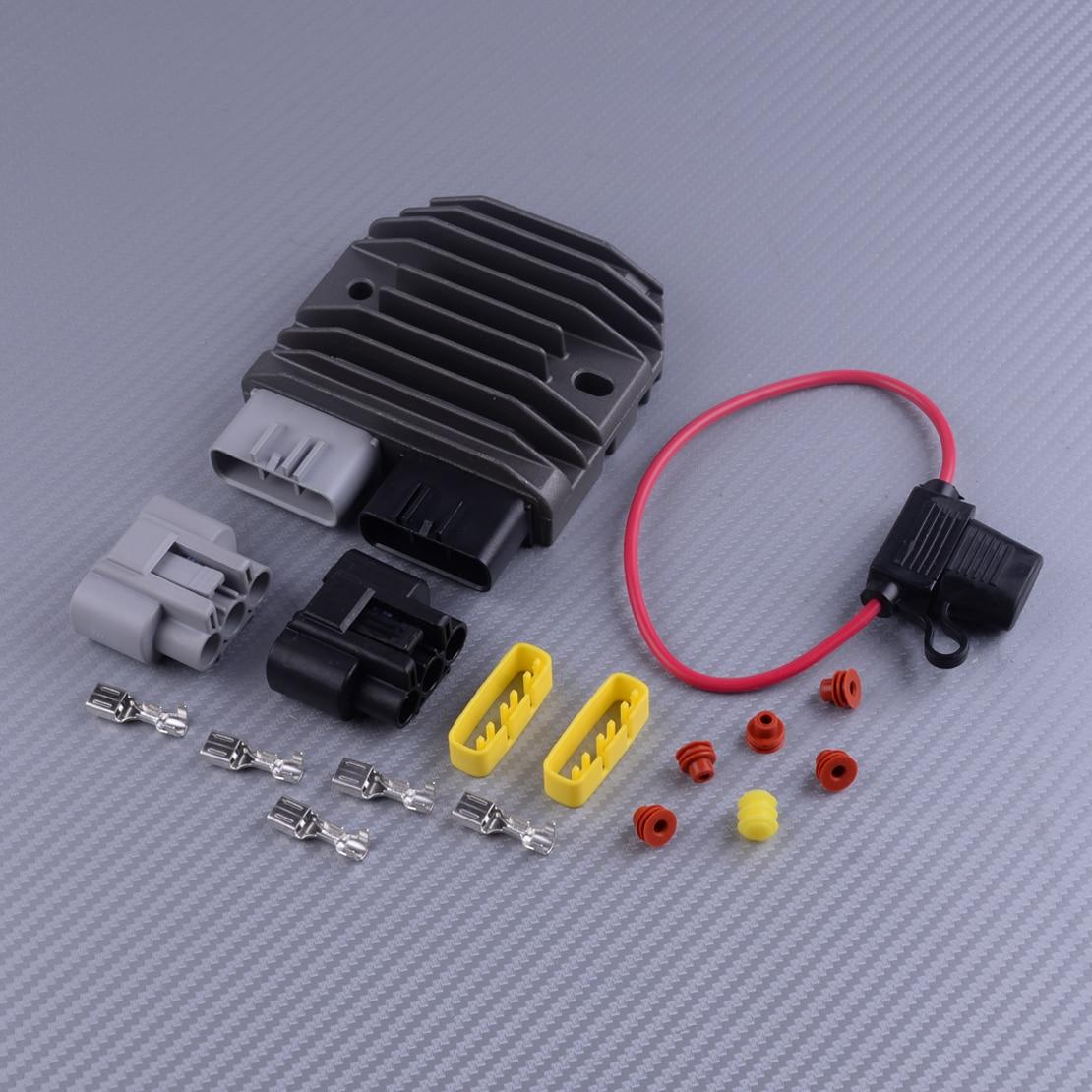 DWCX Universal MOSFET regulador rectificador actualización Kit accesorios para SHINDENGEN FH012AA fusible Maxi protegido