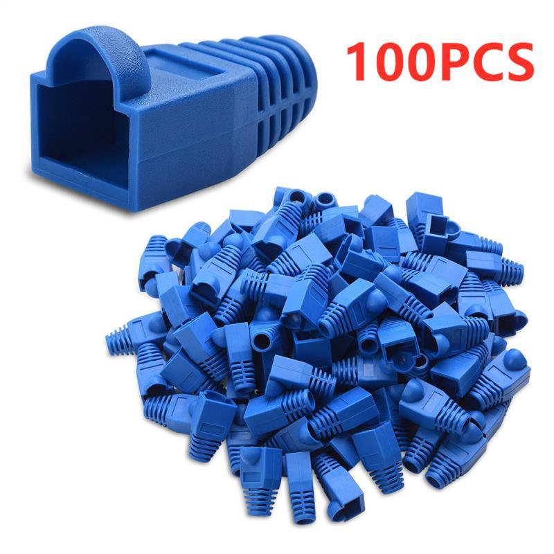 100 Uds RJ45 CAT6 CAT5e adaptador de Cable de red Ethernet toma...