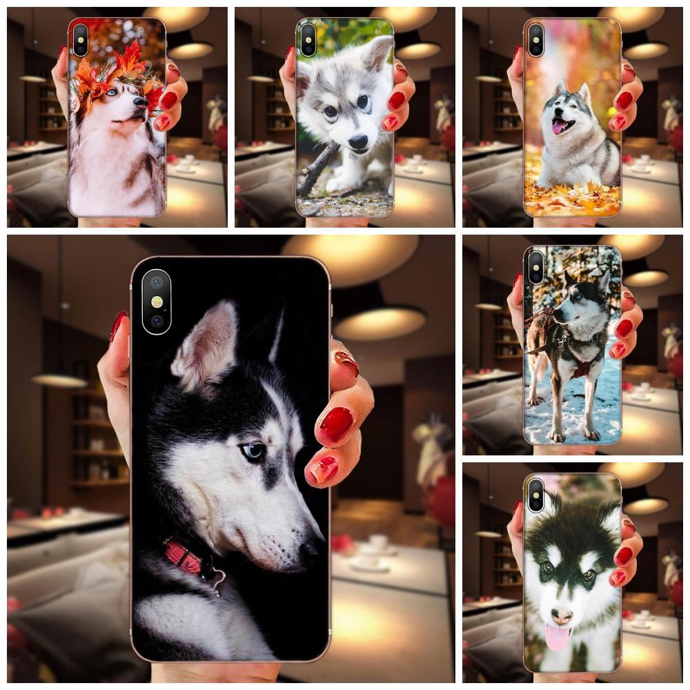 Pintando Husky Dog TPU Da Pele Para O Huawei Honor 4C 5A 5C 5X 6 6A 6X 7 7A 7C 7X 8 8C 8S 9 10 10i 20 20i Lite Pro