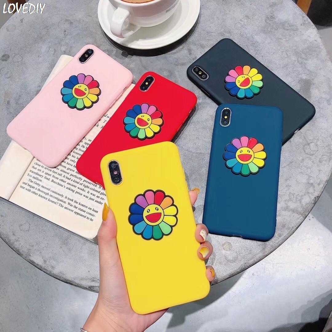 Япония Мураками Такаши солнце цветок чехол для iphone 7 6 s 8 plus X XS 11 Pro Max Xr чехол для Samsung Galaxy S6-S10 Note 8 9 coque