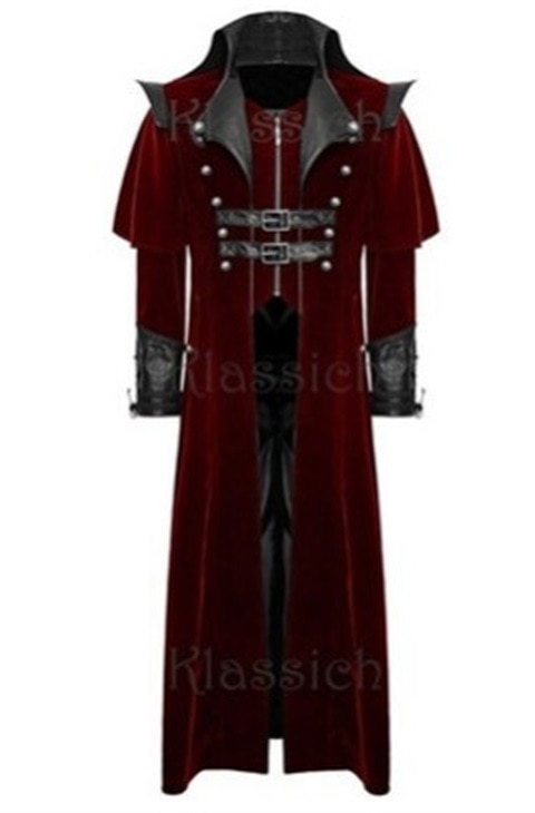 Cosplay Costumes Medieval Halloween Vintage Goth Master Dark Costume Hooded Men Coat Plus Size Jacket Gothic Movie Outfits Tops