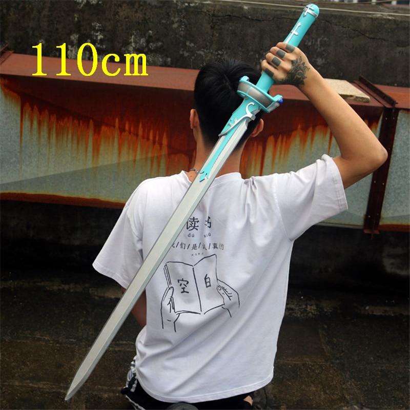 110 см меч искусства меч асуны оружие Косплей САО синий ламбент светильник меч 1:1 аниме ниндзя нож PU оружие опора