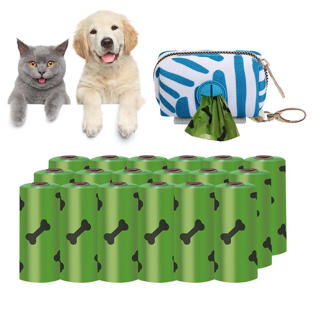 Bolsas de Cocô Eco-amigável para Cães Grossos e Fortes para Bolsas de Cocô Biodegradáveis do Animal de Estimação dos Bolsas do Cocô do Cão de 18 Extra Grossos Fortes para de 18 Rolos e