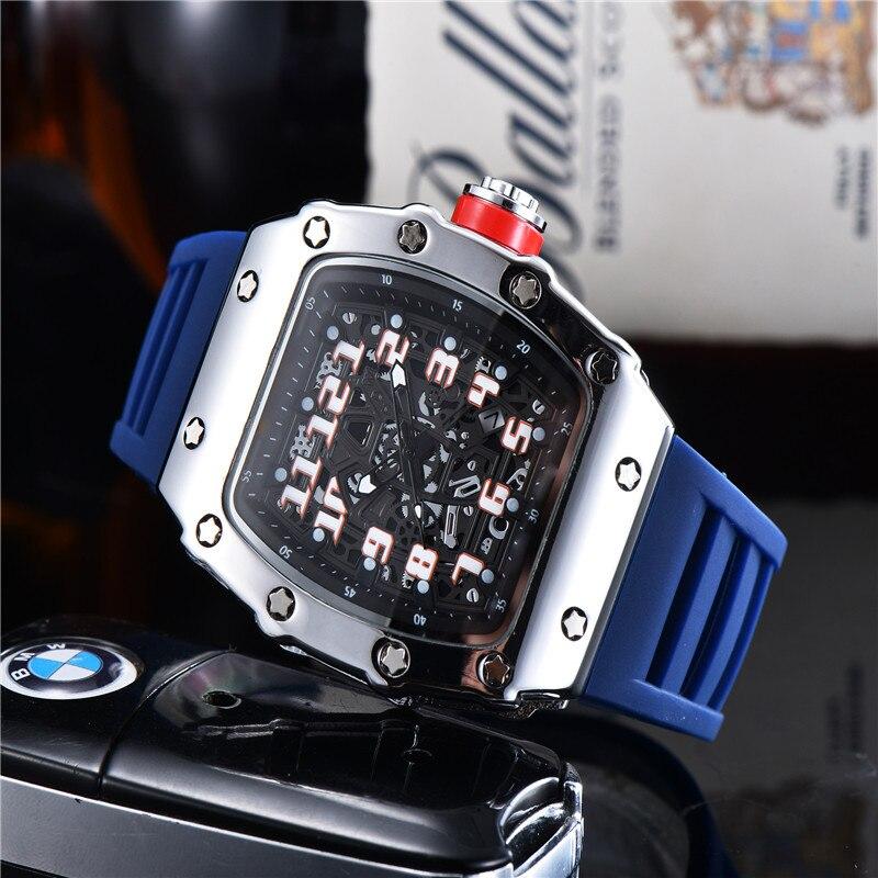 2020 новый топ класса люкс силиконовый ремешок Кварцевые часы для Для мужчин наручные часы Reloj Hombre RM же Стиль 1:1 Размеры AAA Качество Для мужчин s часы Кварцевые часы      АлиЭкспресс