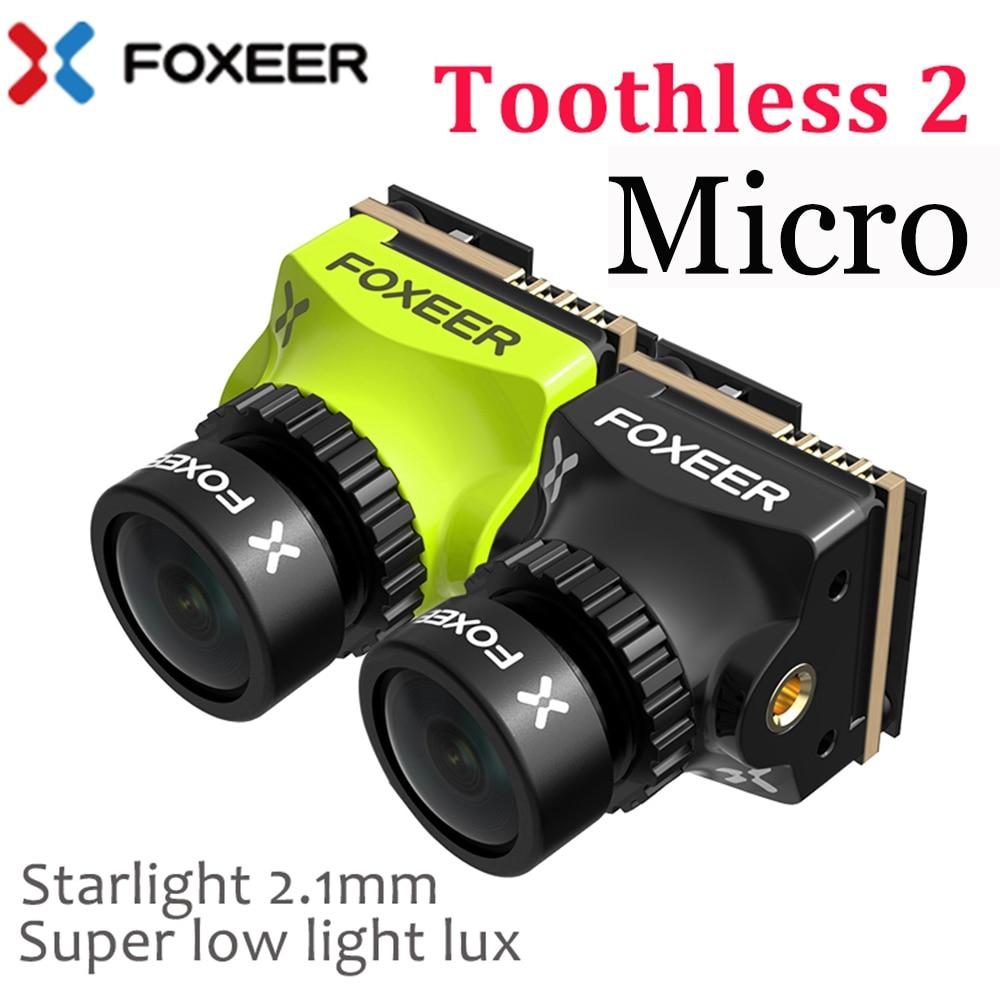 Foxeer/Mini/Micro/Nano dientes 2 CMOS 1/2 1200TVL PAL/NTSC 43 169 FPV OSD Cámara Natural imagen para RC Dron de carreras con visión en primera persona