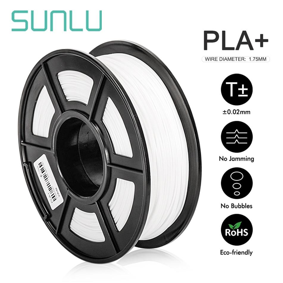 Muestras de filamentos PLA Plus para impresora 3d, Color blanco, 1KG/rollo, 1,75mm,...