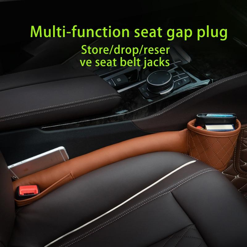 Soporte de cuero para hueco de asiento de coche, relleno suave para...