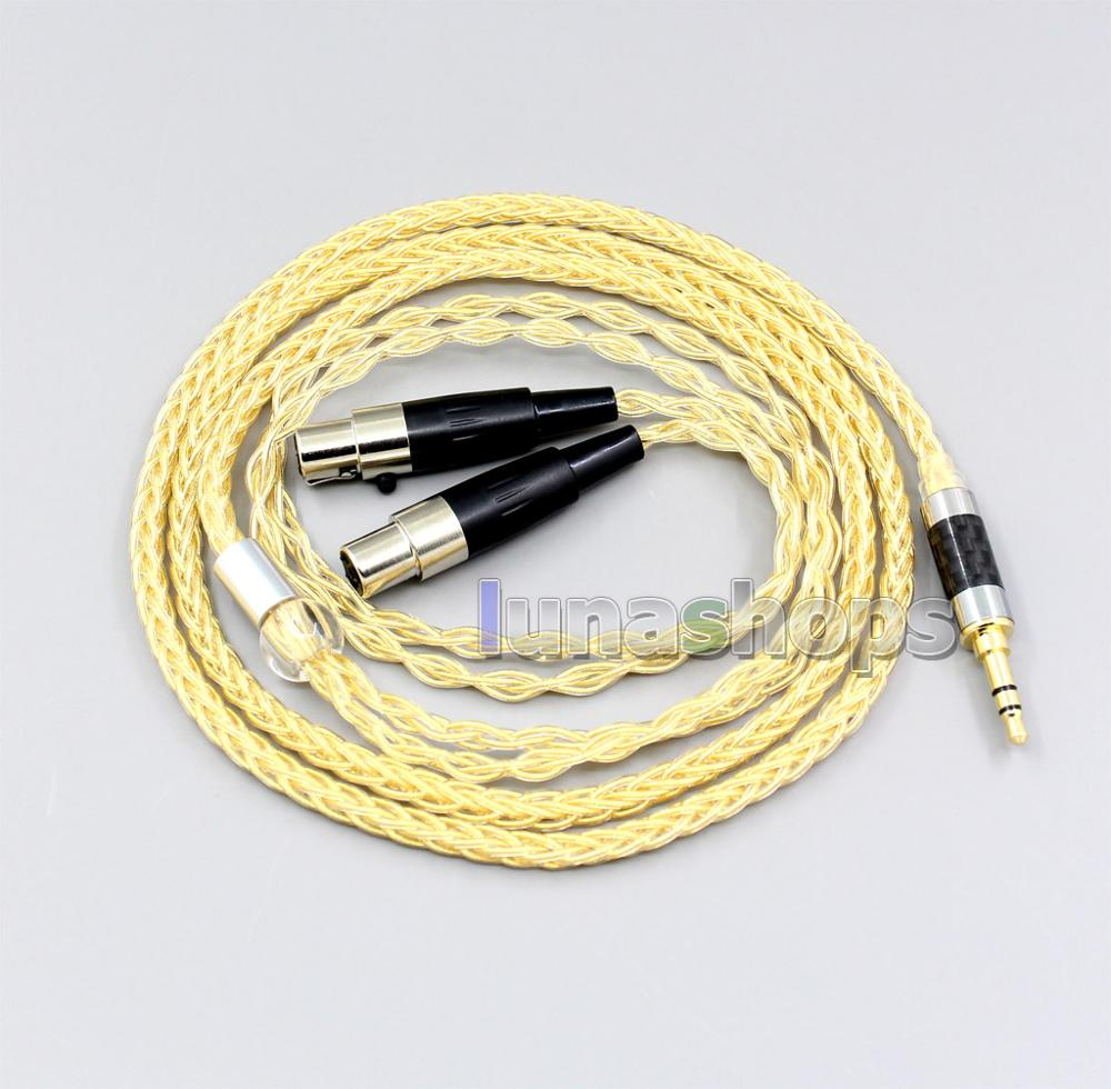 3,5mm 2,5mm 4,4mm 8 núcleos de plata pura 99.99% + chapados en oro auricular Cable para Audeze LCD-3 LCD3 LCD-2 LCD2 LCD-X LCD-XC LN006482