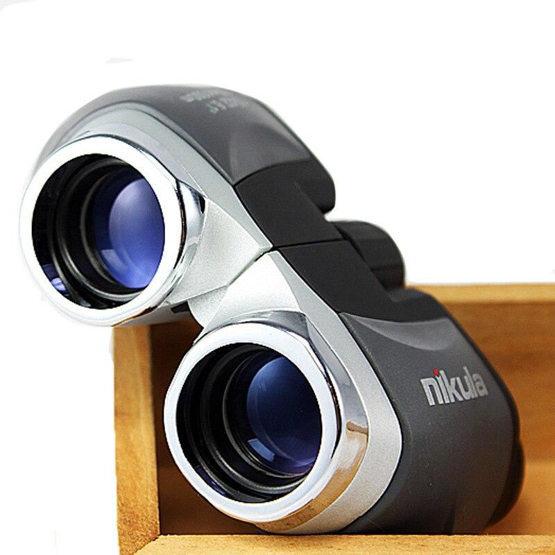 Genuino telescopio nikula 10x22 hd binoculares turista concierto patrulla especializado observación espejo