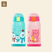 Детский термос Youpin Viomi, кружка из нержавеющей стали, портативные термосы для молока с мультяшными животными, кружка для путешествий в подарок