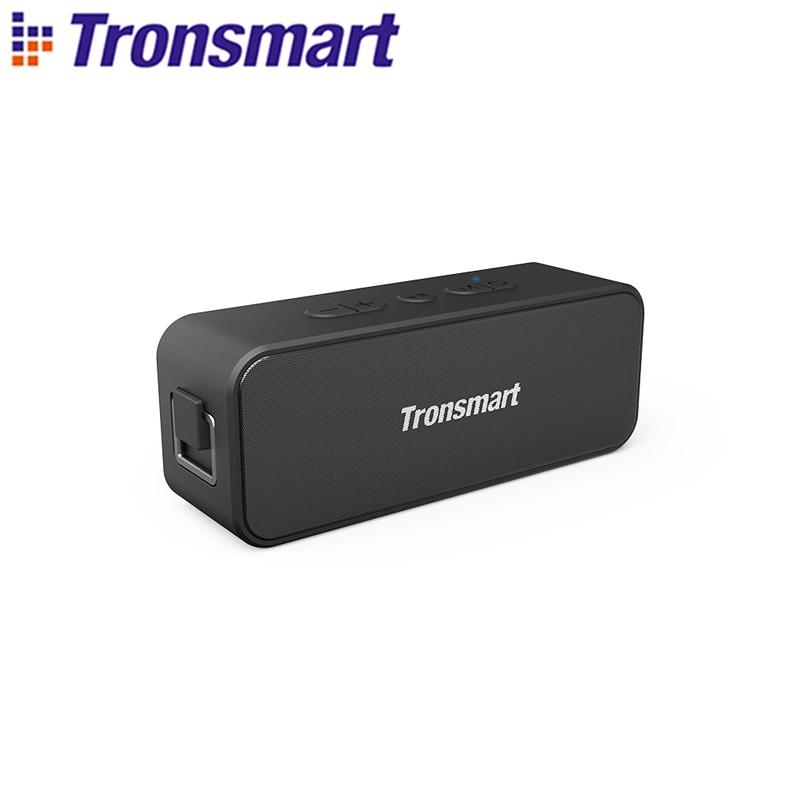Беспроводная колонка Tronsmart T2 Plus, Bluetooth 5,0, TWS динамик 20 Вт, Портативная колонка 24 часа, IPX7, звуковая панель с голосовым помощником, Micro SD