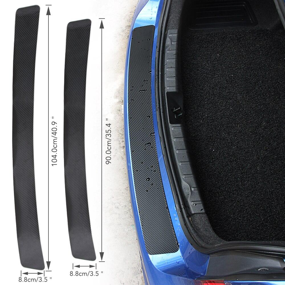 Pegatina de parachoques trasero de fibra de carbono para Volkswagen Passat B5 VW Polo B6 CC GOLF 4 5 6