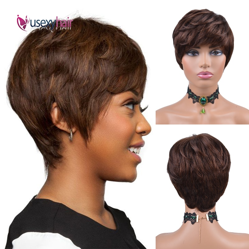 wignee natural wave lace front short human hair wigs for black women 150% density remy hair ombre green pink 613 swiss human wig Short Wave Bob Wigs Human Hair 100% Human Hair Remy Natural Wavy Wigs For Black Women 150% Density Brazilian Pixie Cut Short Wig