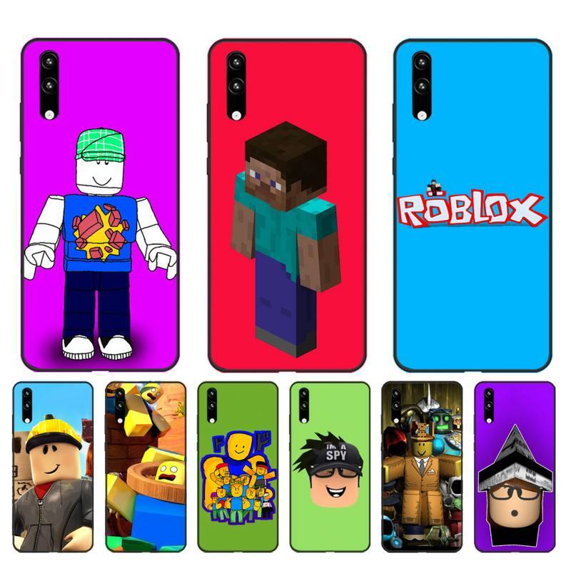 FHNBLJ juego Robloxes negro Funda del teléfono para Huawei Honor8X 8A 9 10 20 Lite 10i 20i 7A 7C P20 30 40 Lite