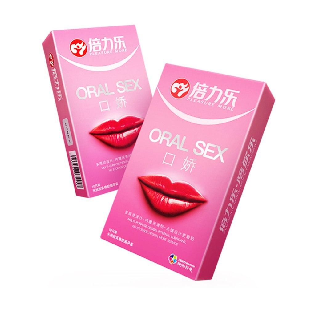 10 unids/caja Natural de látex, Condones para sexo Oral, Condones Ultra finos para hombres, anticepción, sabor melocotón, sexo seguro, pene, manga, pene, Juguetes