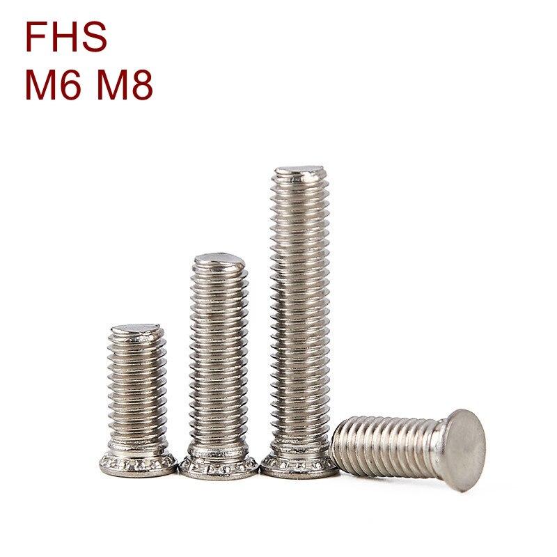 M6 M8 FHS Acero inoxidable prensa remachadora tornillo presión remache tornillo SUS304 cabezal de lavado pernos