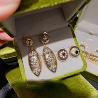 earrings 2021 trend brilliant snowflake micro inlaid zircon earrings plated with 18k gold flowers stud earrings dangle earrings