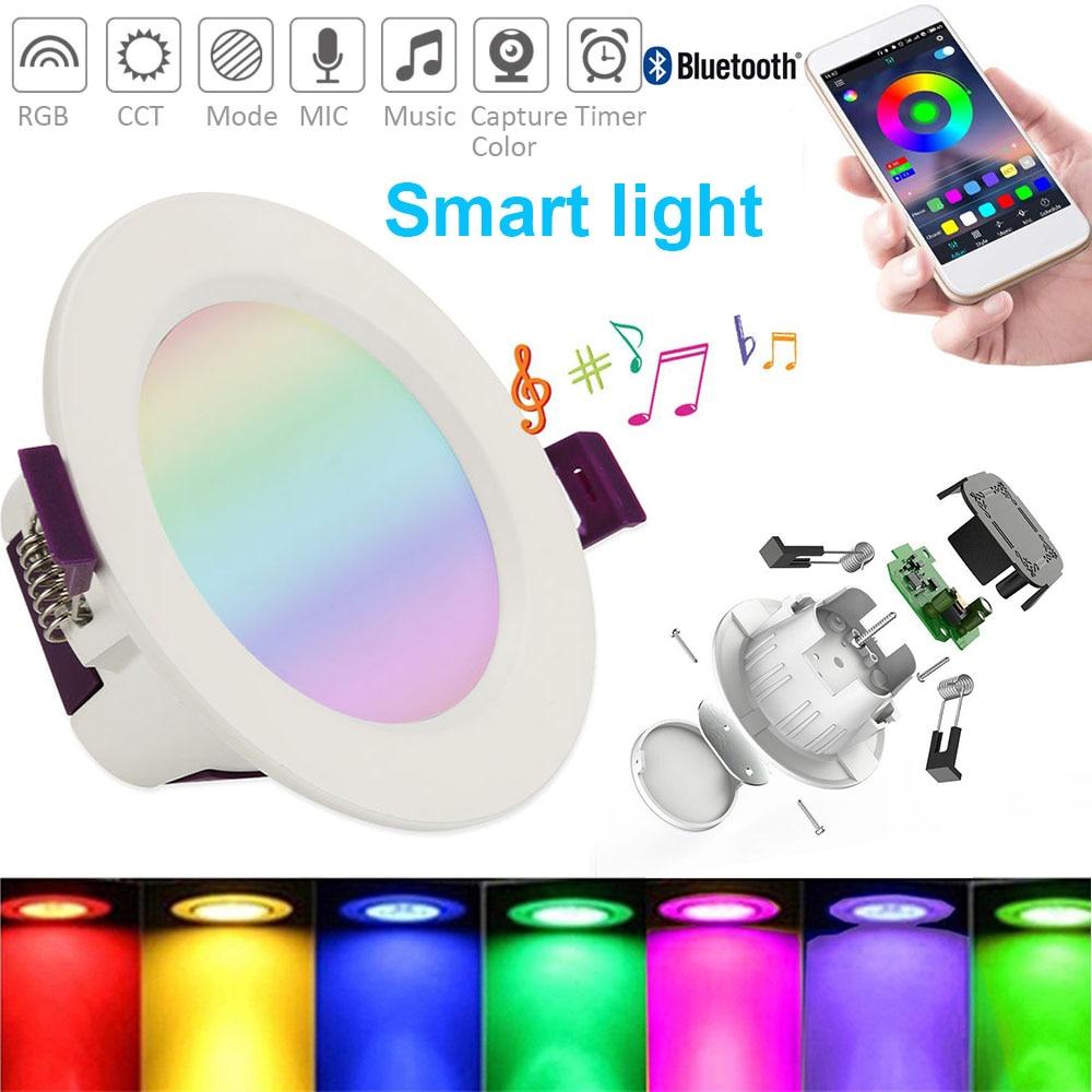 Точечный светодиодный круглый потолочный светильник Интеллектуальный светильник RGB/WW/CW, 16 цветов, потолочный светодиодный светильник свет...