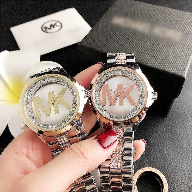 YUNAO Jewelry New Simple Letter Crystal Diamond Bracelet Watch Fashion Elegant Daily All-Match Watch Female Trend Watch enlarge