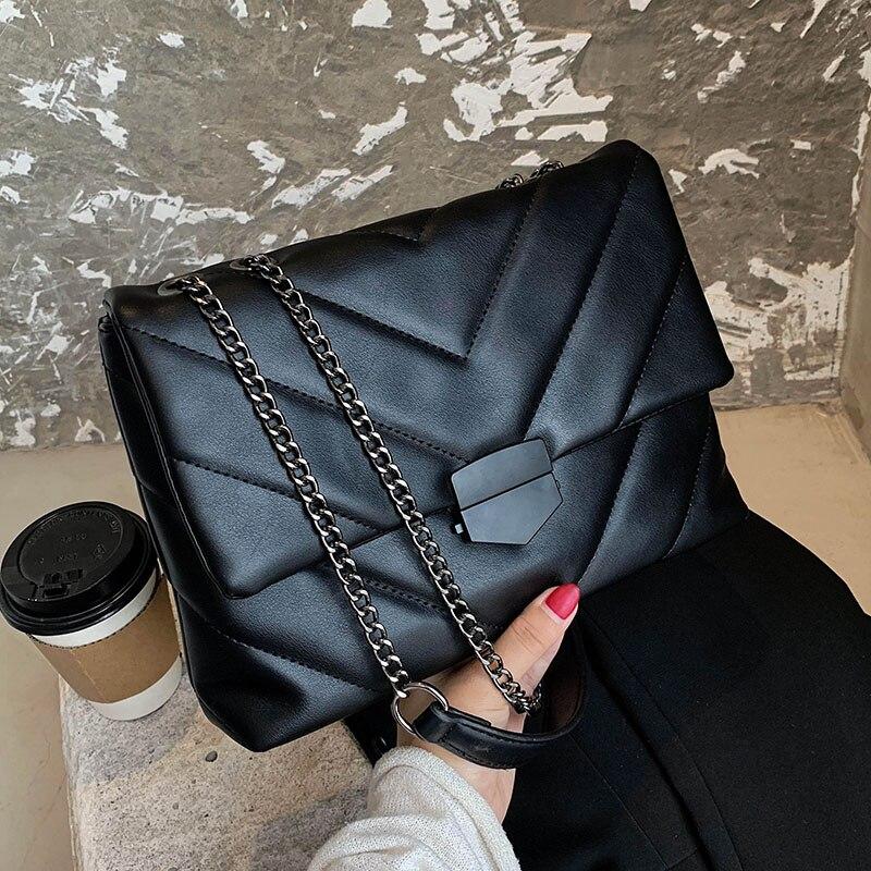 Sewing Thread Thread Small PU Leather Crossbody Bags for Women 2021 New Trend Women's Handbag Brande