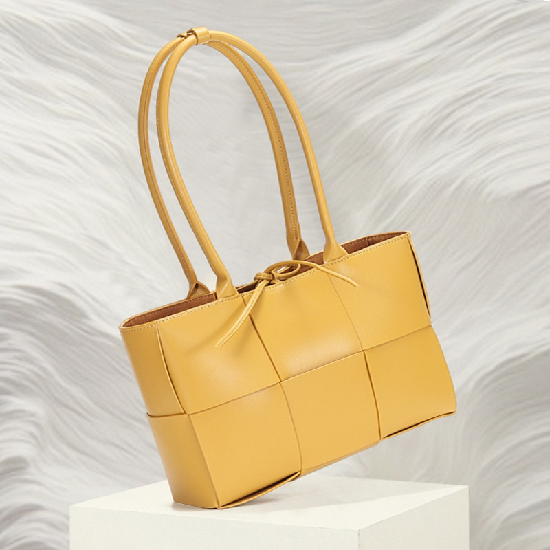 New Cow Leather Single Shoulder Bag For Women Large Capacity Letter Decoration Messenger Handbag Fashion Ladies Shopping Bag Sac