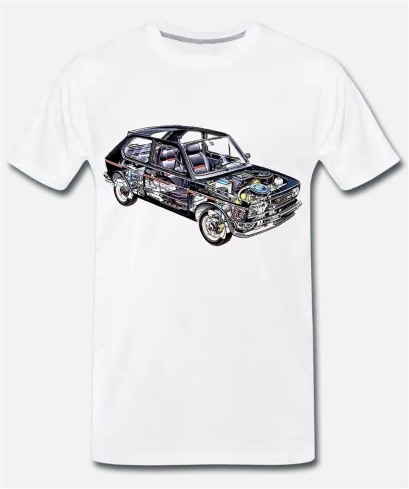 Camiseta Maglia Fiat 127 Anni 70 Auto Mito de DEpoca-1-Ritmo S-M-L- camiseta con estampado Digital Xl