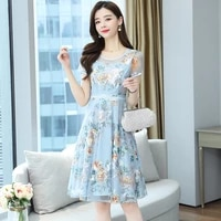 2021 fashion korean version new summer women dress female dress summer party chiffon summer dress