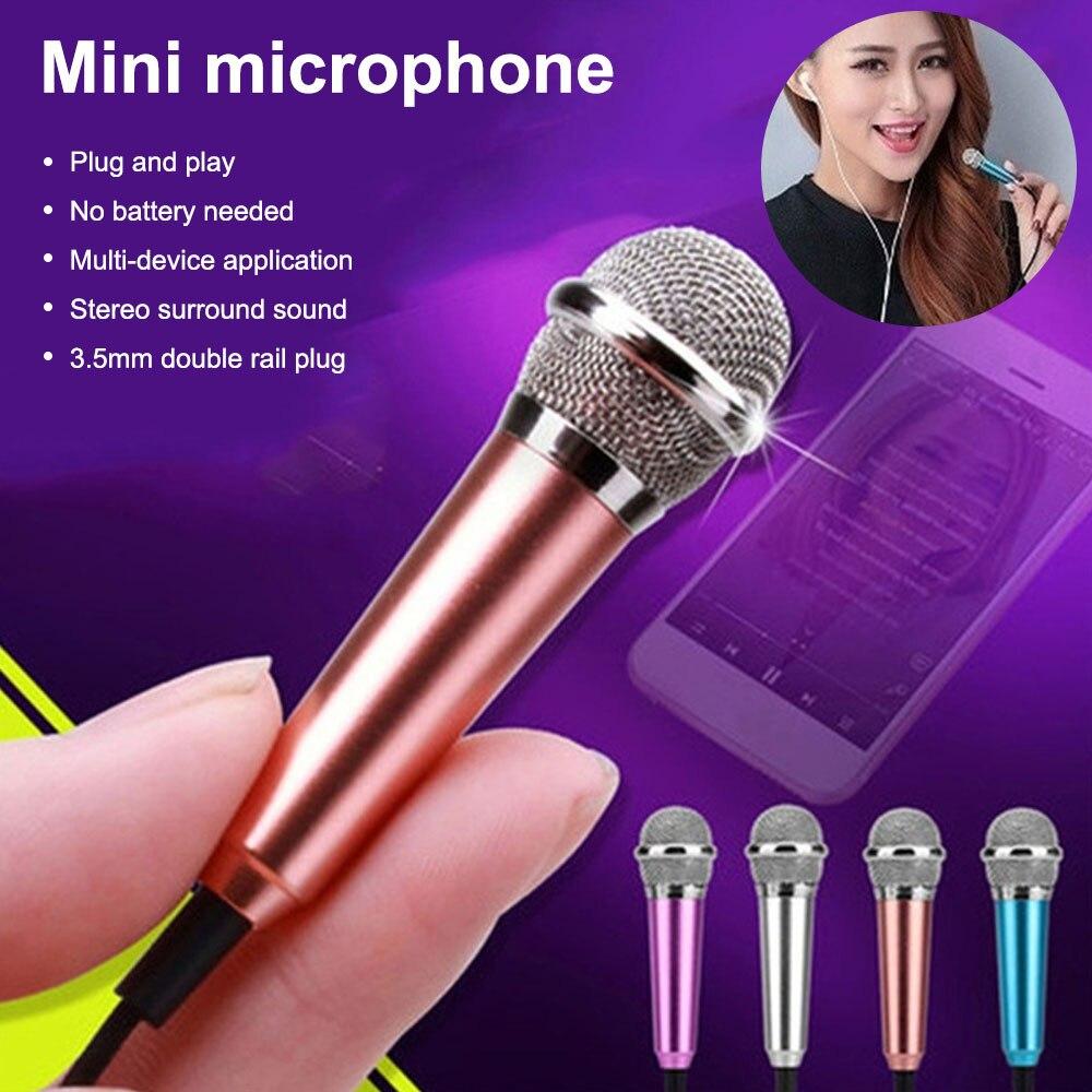 Mini micrófono con cable de 3,5mm, Conector de Audio para IPhone, Samsung,...