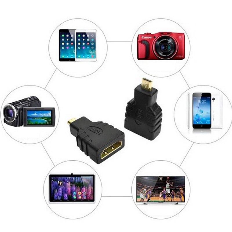 1 juego chapado en oro HD extensión conector de adaptador HDMI a...