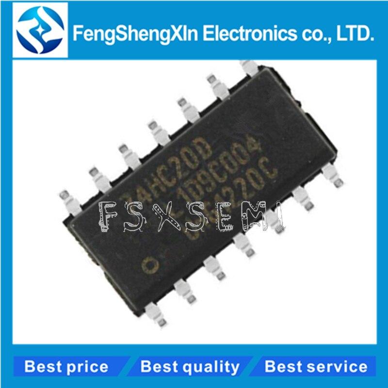 10 unids/lote 100% nuevo original 74HC20 SN74HC20DR HC20 74HC20D SOP-14 doble 4-entrada NAND puerta IC