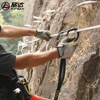 xinda screw ce uiaa climbing product outdoor ear shaped carabiner sliding