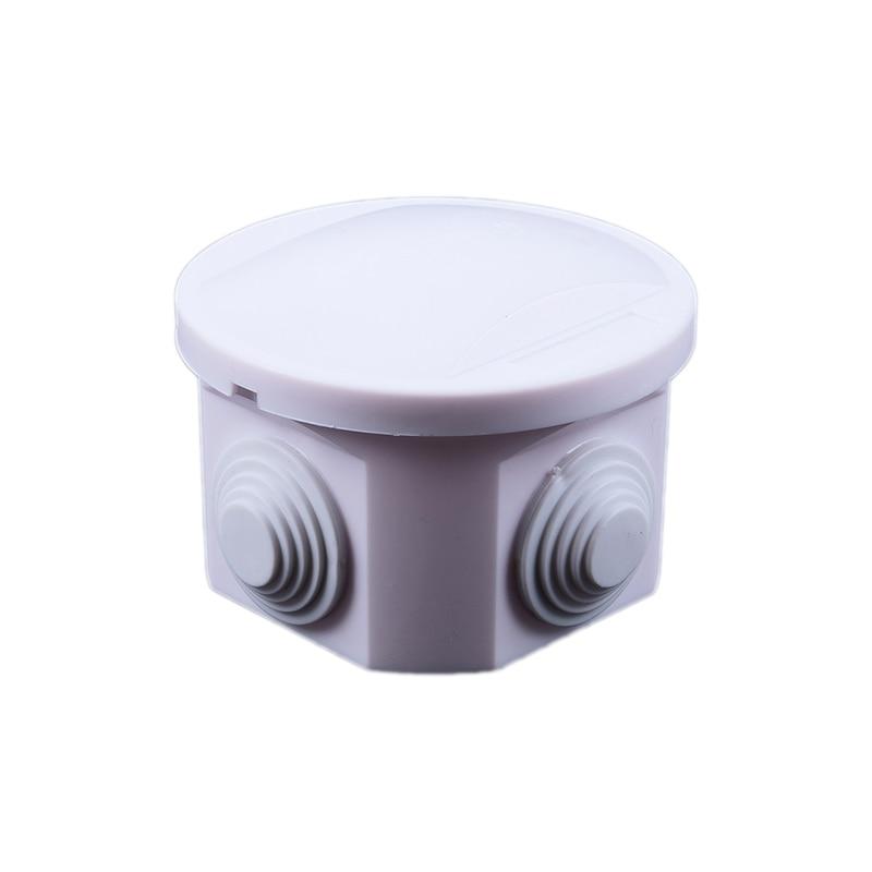 Caja redonda de conexiones IP55 a prueba de agua arandelas de junta de Cable blanco