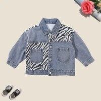 2021 autumn kids coats for girls spring denim fashion girl jackets teen girls clothing for 12m 8 years children outerwear