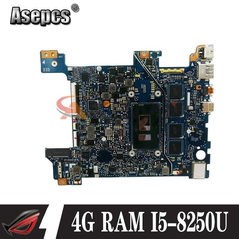 Akemy X406UAR اللوحة الأم ل ASUS VIVOBOOK X406U S406U S406 V406U X406UA X406U اللوحة الأم اللوحة الأم ث/4G/I5-8250U وحدة المعالجة المركزية