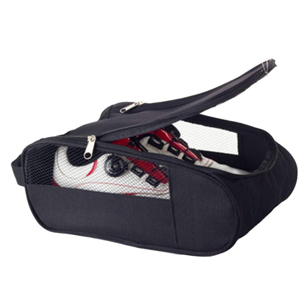 Durable Haus Mesh Loch Atmungsaktiv Haus Staub Proof Doppel Reißverschlüsse Lagerung Fall Sport Reise Golf Schuhe Taschen Wasserdicht