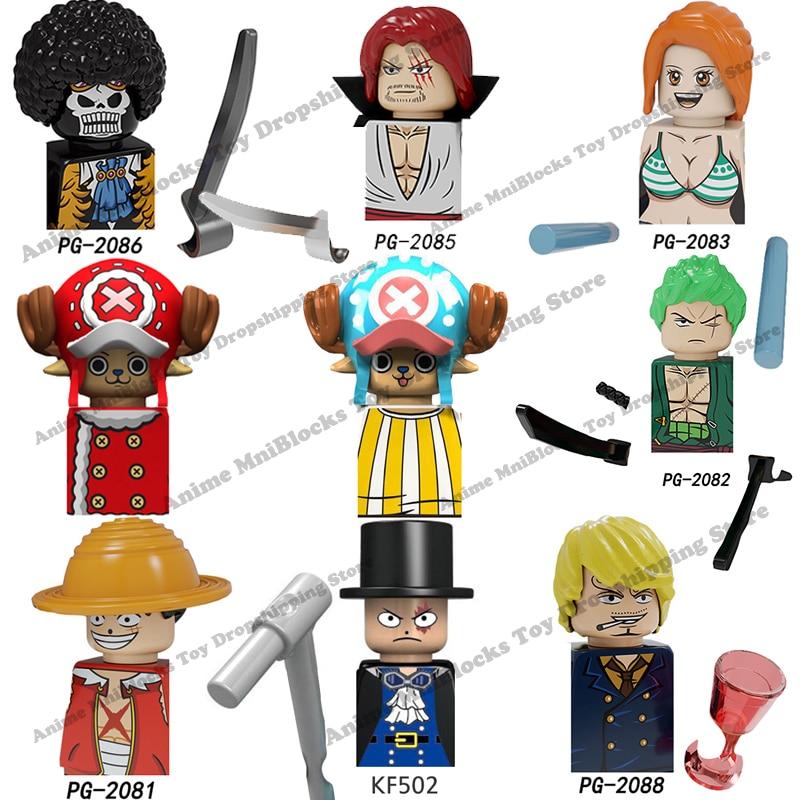 PG8244 KF6037 XP119 XP120 аниме цельные строительные блоки кирпичи мини Экшн-фигурки головки Сборка игрушки для детей подарки на день рождения