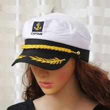 1 Pcs Militaire Nautische Hat Wit Kapitein Hoed Marine Cap Marine Schipper Sailor Cap Kostuum Volwassen Partij Fancy Dress Unisex hoed