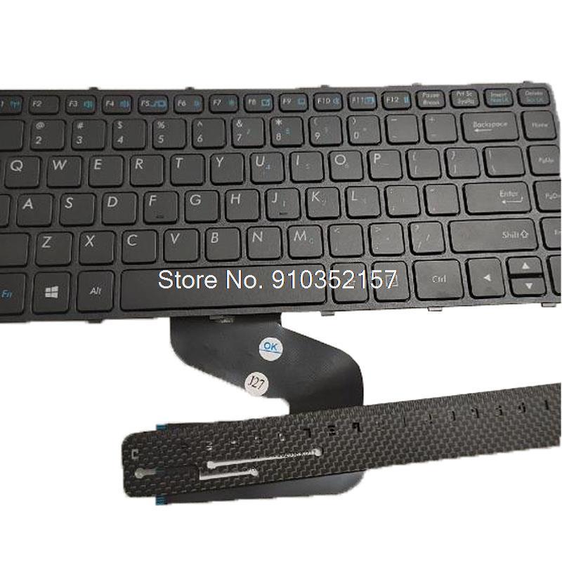 الكمبيوتر المحمول الولايات المتحدة شفافة استبدال لوحة المفاتيح ل Getac S410 الولايات المتحدة الأمريكية الإطار الأسود