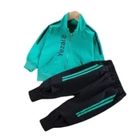 spring autumn baby boys girls casual clothes infant kids jacket t shirt pants toddler fashion costume children letter tracksuits