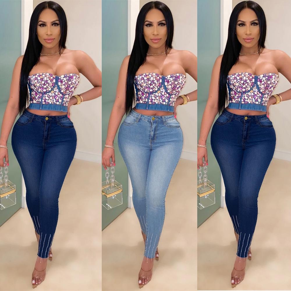 Джинсы, женские джинсы, узкие джинсы, Лидер продаж, джинсы, простые джинсы, женские джинсы с высокой талией, повседневные джинсы в стиле ретр...