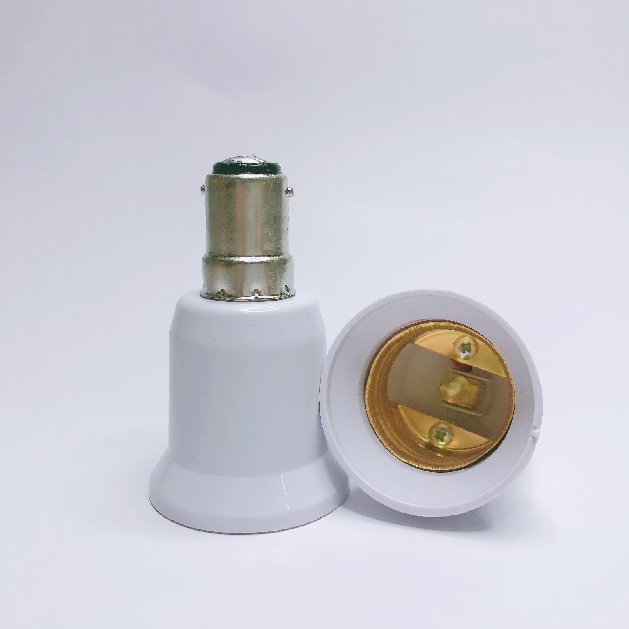 1 unidad BA15D a E27 adaptador toma de conversión Material de alta calidad Material ignífugo B15 a E27 enchufe adaptador soporte de lámpara