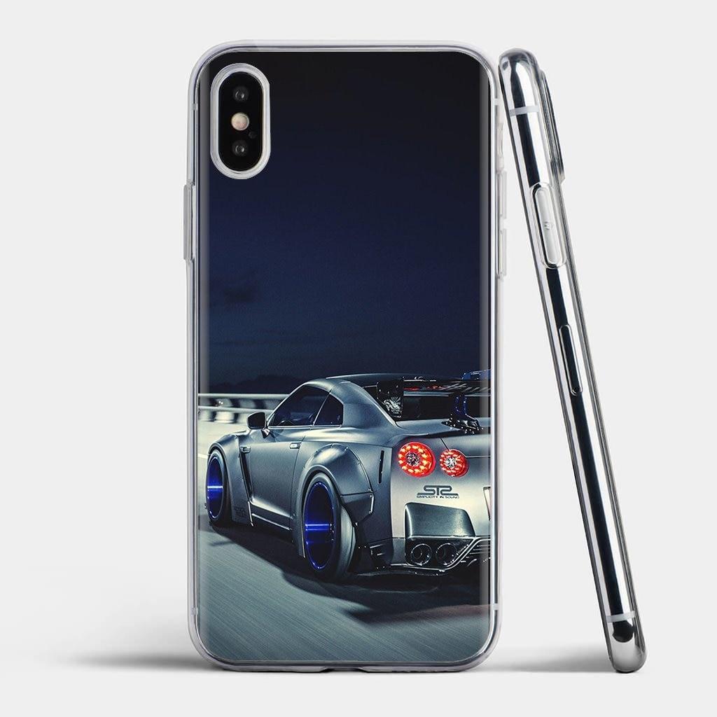 Funda de piel suave para coche deportivo, Logo metálico JDM para coche GTR para Xiaomi Mi A1 A2 A3 5X 6X 8 9t Lite SE Pro Mi Max Mix 1 2 3 2S