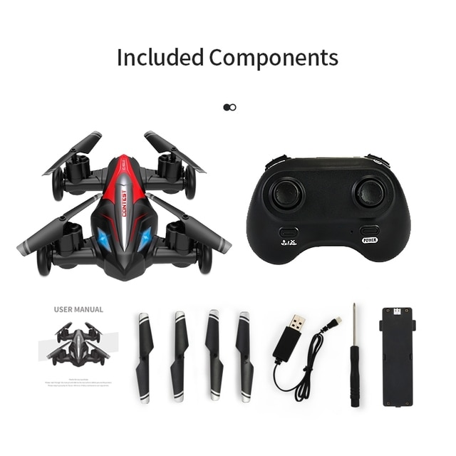 Eachine D85 2in1 Dron Air-Ground Flying Car 2.4G Dual Mode Racing Mini Drone Professional RC Car Quadcopter Drones Children Toys 10