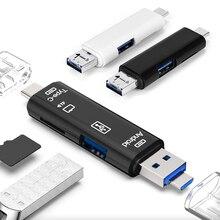 2 couleurs USB OTG lecteur de carte universel Micro USB OTG TF/SD lecteur de carte Extension de téléphone en-têtes Micro USB OTG adaptateur