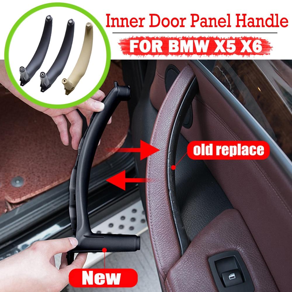 Правая левая внутренняя Дверная панель Ручка Натяжной отделочный держатель автомобильные интерьерные аксессуары для BMW E70 X5 E71 E72 X6 X6 Тюнинг ...