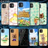 cartoon new horizon cross tempered glass phone case cover for iphone 5 6 7 8 11 12 s plus xr x xs pro max mini se 2020 black
