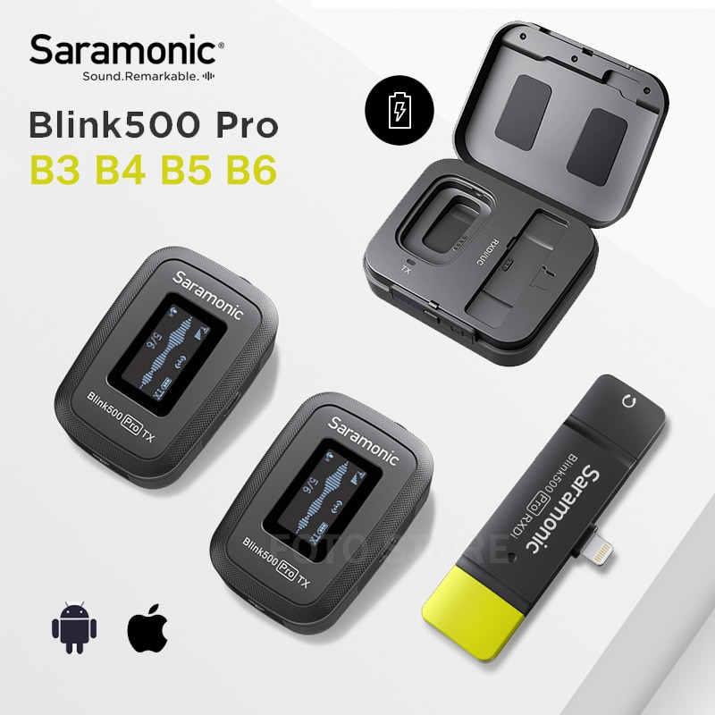 Review NEW Saramonic Blink500 Pro Wireless Lavalier Microphone Video Mic for iPhone Android Cell Phones Blink 500 Pro B3 B4 B5 B6